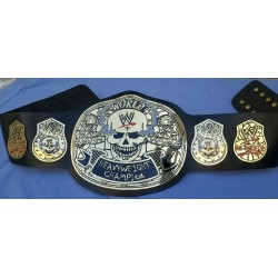 WWF WWE Smoking Skull Championship Wrestling Leather belt