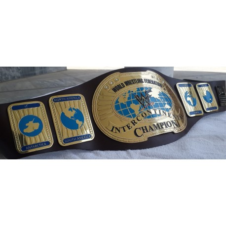 WWF World Intercontinental Championship Wrestling Leather belt