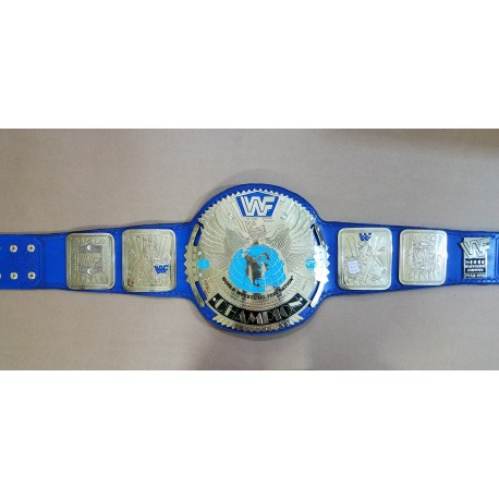 WWF Big Eagle Block Logo Championship Belt