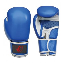 New Men's 2015 Boxing Gloves Cowhide Leather,Blue and White
