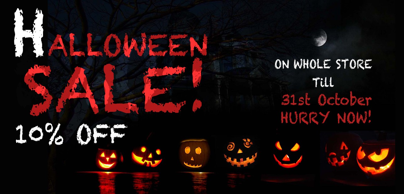 Halloween Sale Flat 10 % OFF
